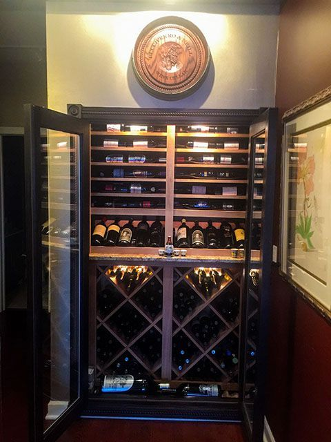 Convert a closet into a wine cellar baroque design Turn closet into wine cellar